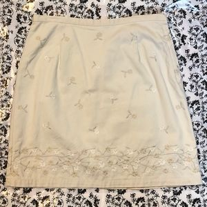 Women's J. Crew Embroidered Skirt